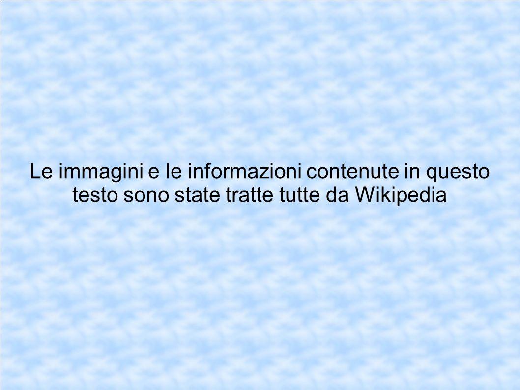Le immagini e le informazioni contenute in questo testo sono state tratte tutte da Wikipedia