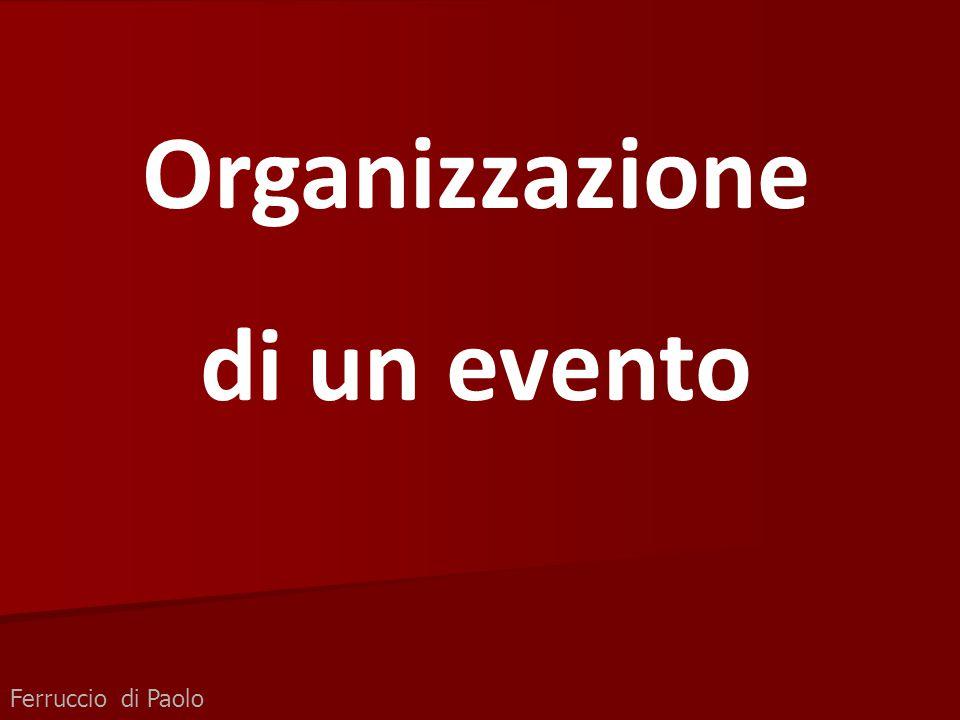 Organizzazione di un evento