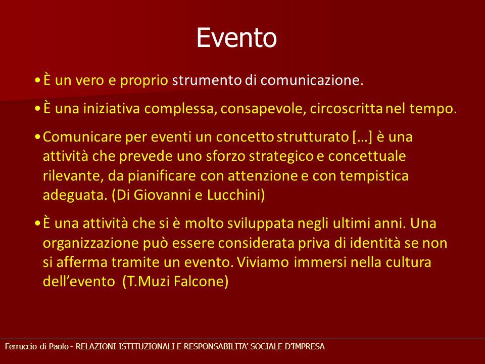 Evento È un vero e proprio strumento di comunicazione.