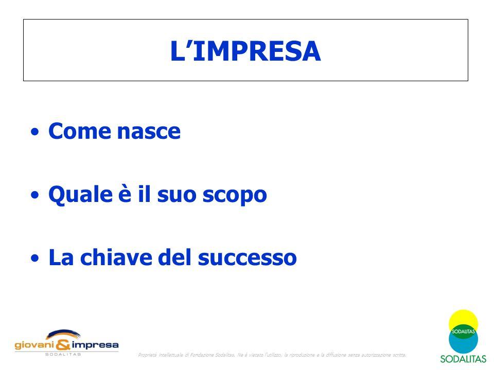 L'IMPRESA Come nasce Quale è il suo scopo La chiave del successo