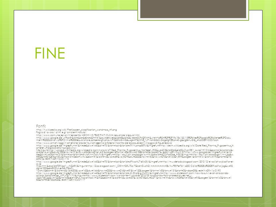FINEFonti: http://it.wikipedia.org/wiki/File:Koppen_classification_worldmap_Af.png. Foglio di lavoro: i climi e gli ambienti naturali.