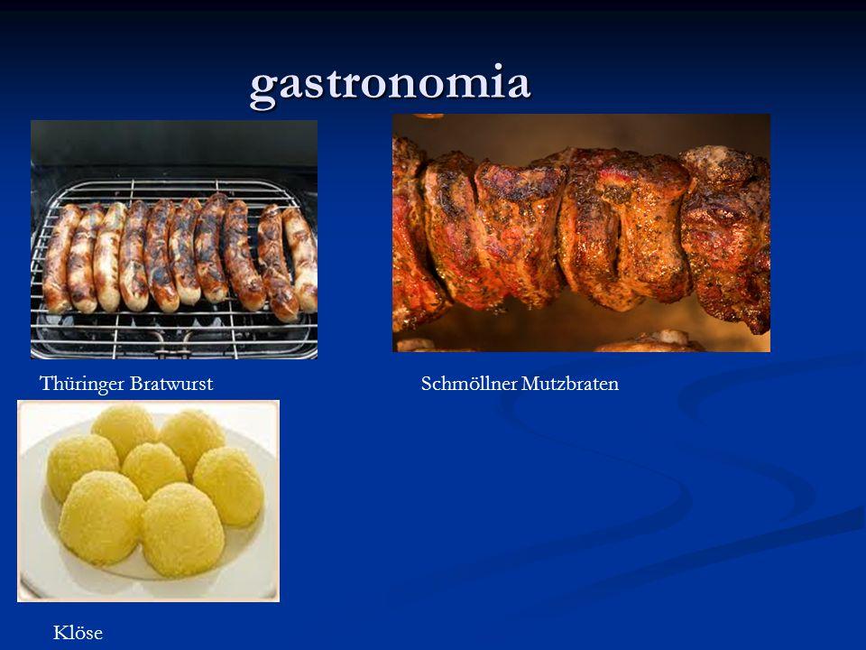 gastronomia Thüringer Bratwurst Schmöllner Mutzbraten Klöse
