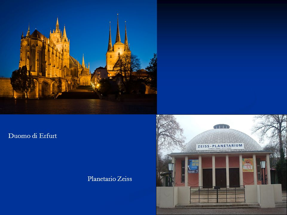 Duomo di Erfurt Planetario Zeiss