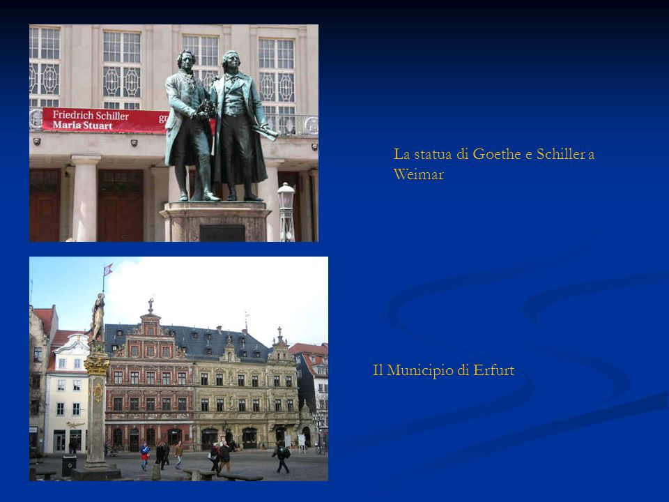 La statua di Goethe e Schiller a Weimar