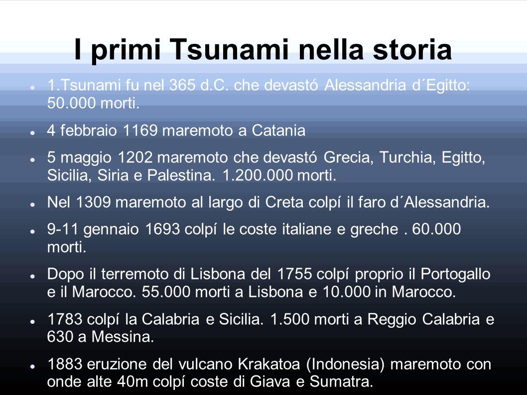I primi Tsunami nella storia