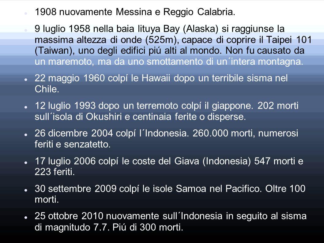 1908 nuovamente Messina e Reggio Calabria.