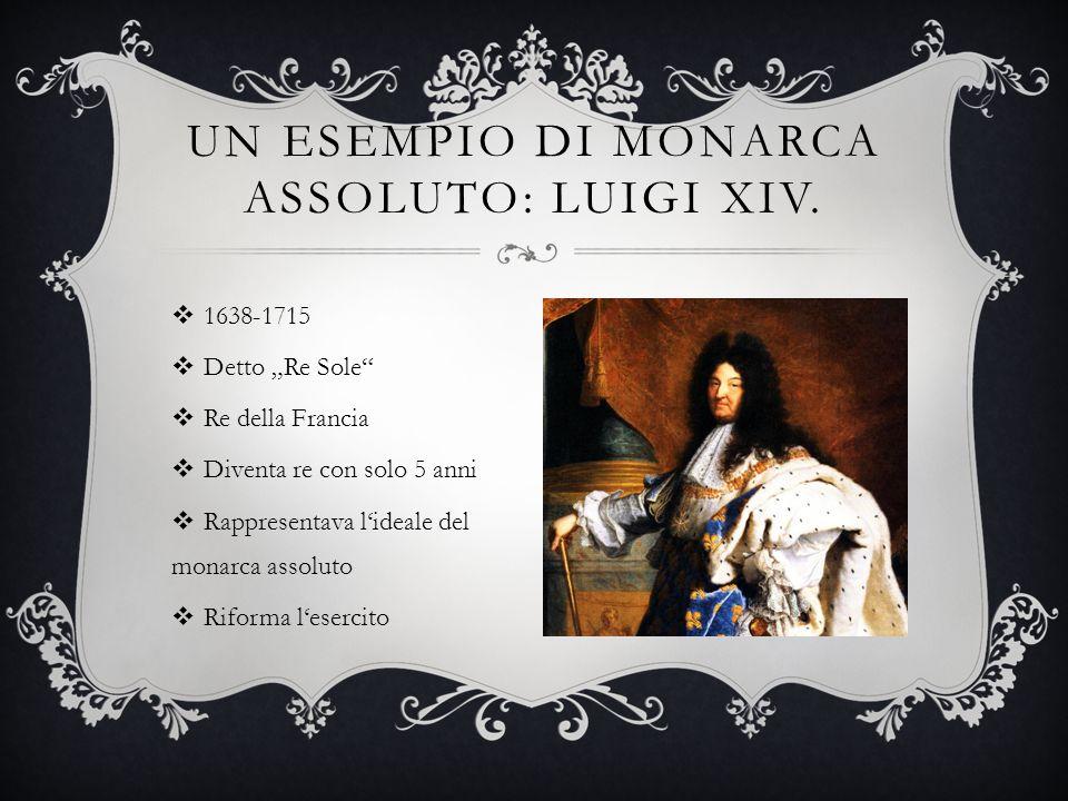 UN ESEMPIO DI MONARCA ASSOLUTO: LUIGI XIV.