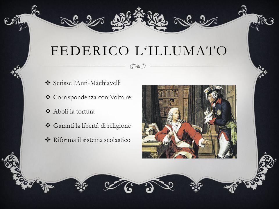 Federico l'Illumato Scrisse l'Anti-Machiavelli