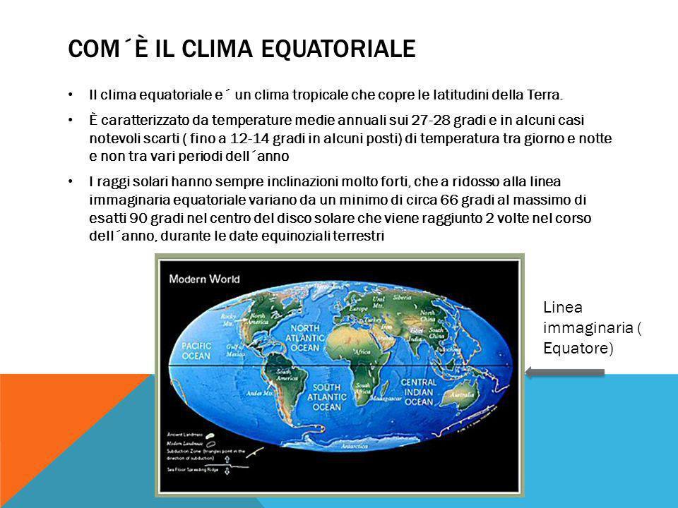 Com´è il clima equatoriale