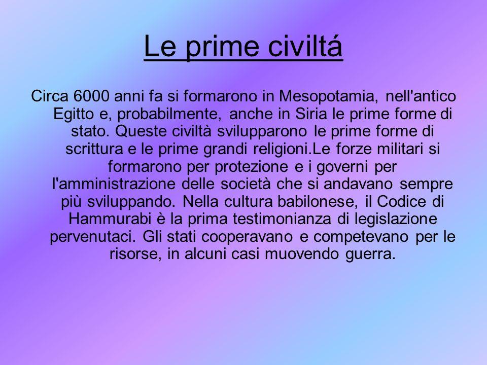 Le prime civiltá