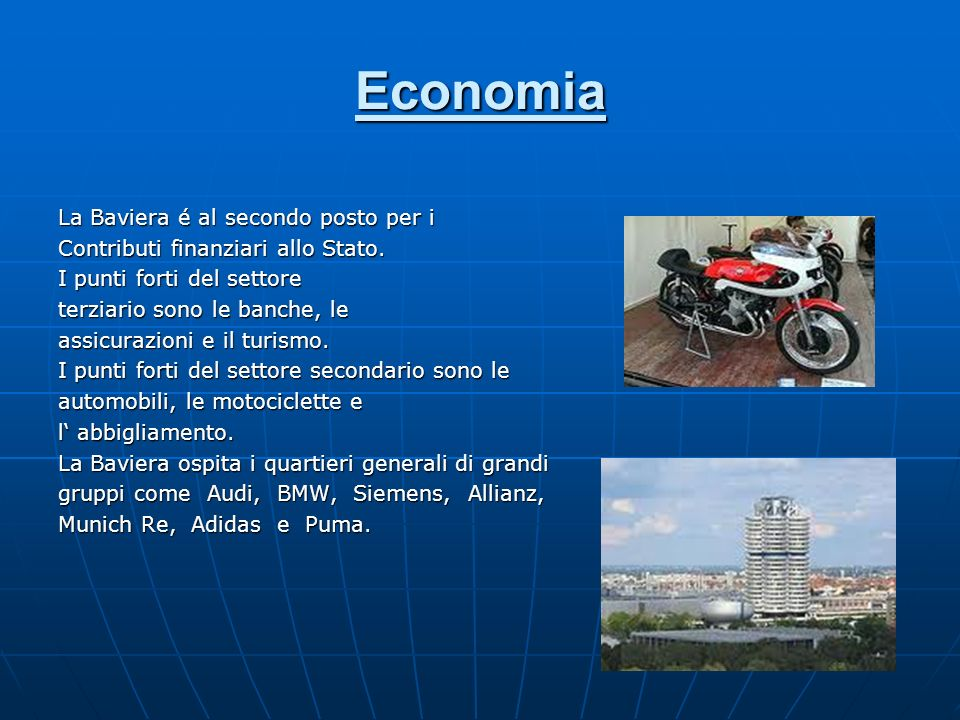 Economia La Baviera é al secondo posto per i