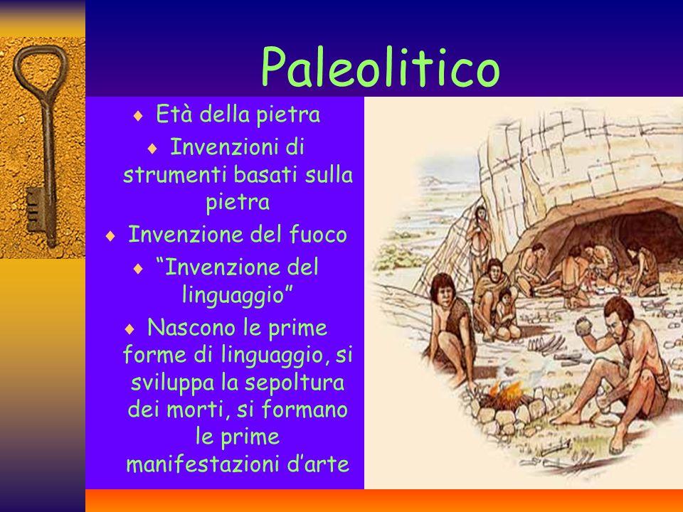 Paleolitico Età della pietra