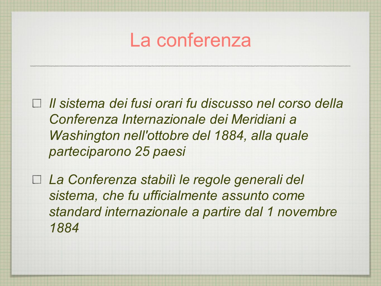 La conferenza