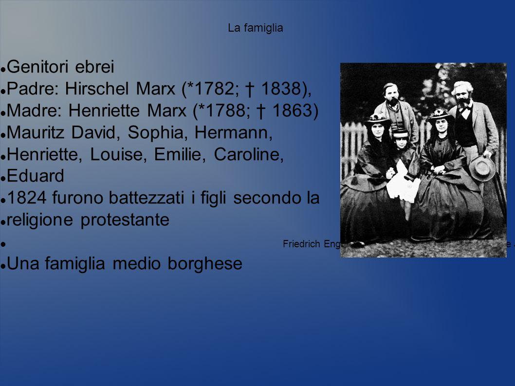 Padre: Hirschel Marx (*1782; † 1838),