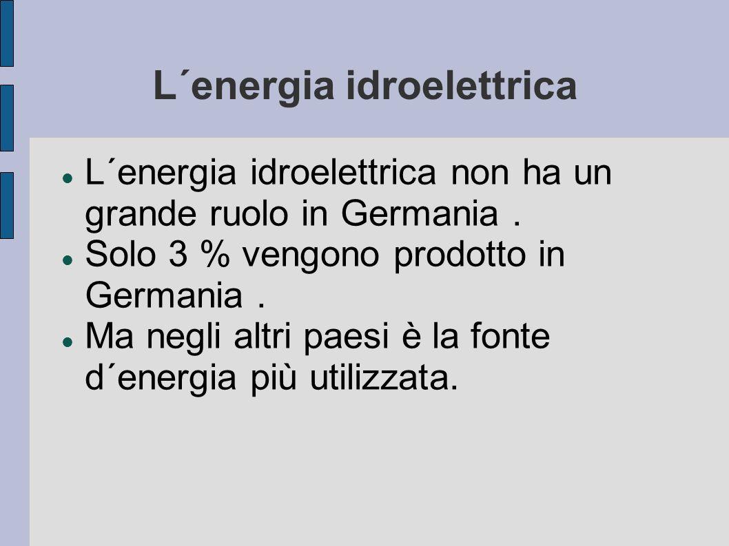 L´energia idroelettrica