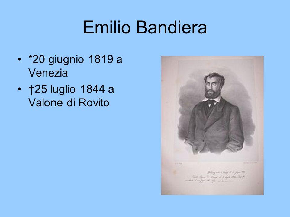 Emilio Bandiera *20 giugnio 1819 a Venezia