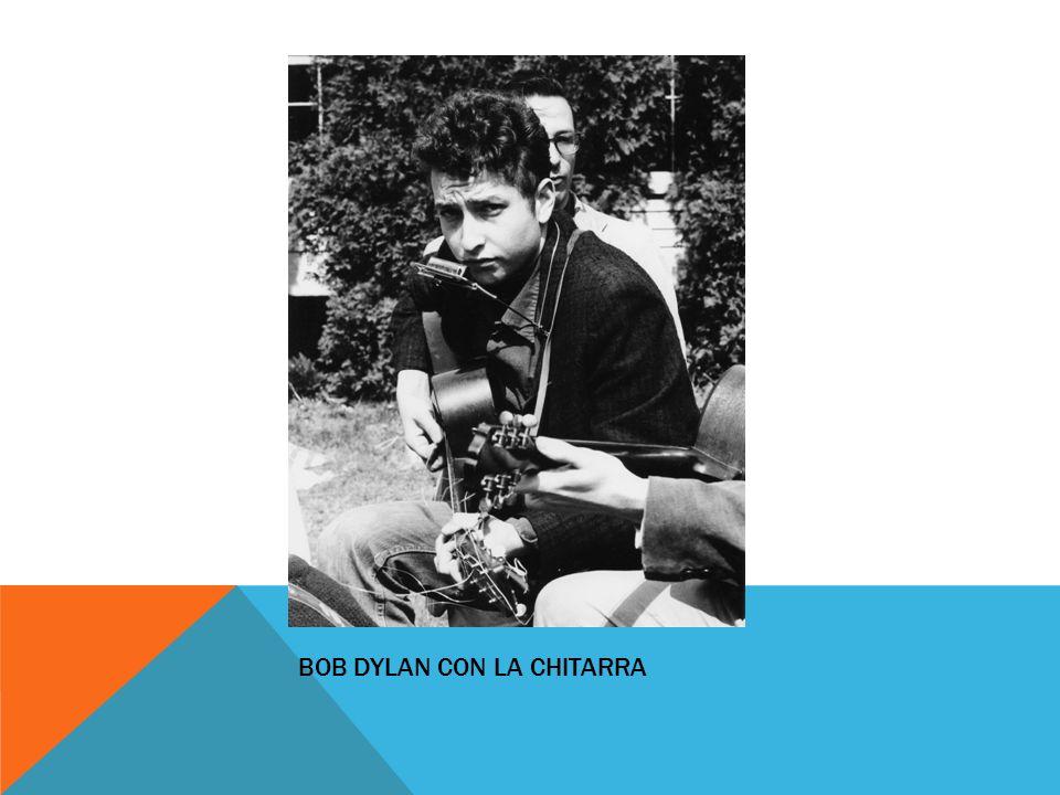 Bob Dylan con la chitarra