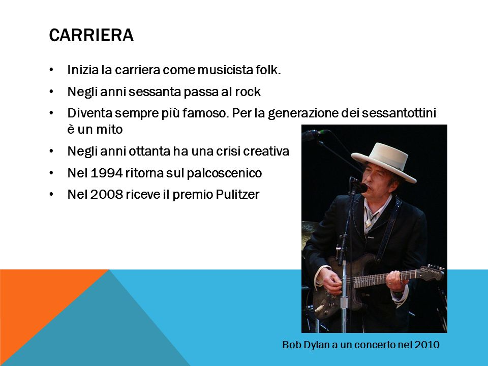 Carriera Inizia la carriera come musicista folk.