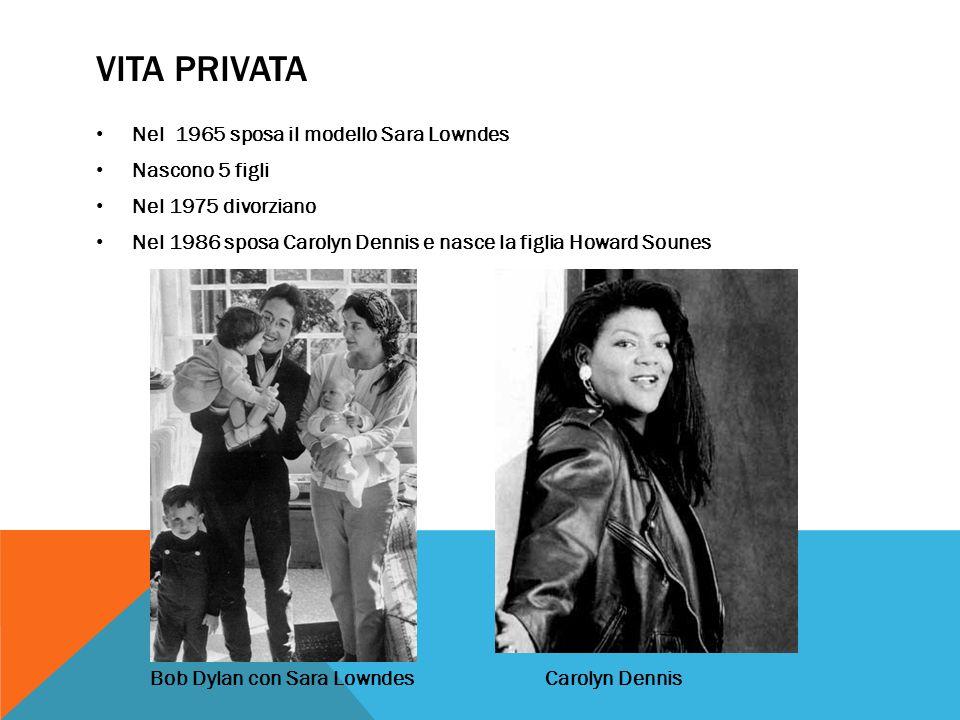 Vita Privata Nel 1965 sposa il modello Sara Lowndes Nascono 5 figli