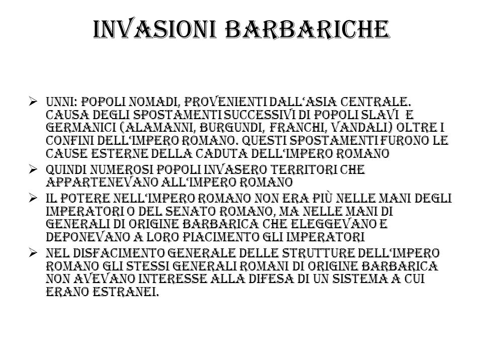 Invasioni barbariche