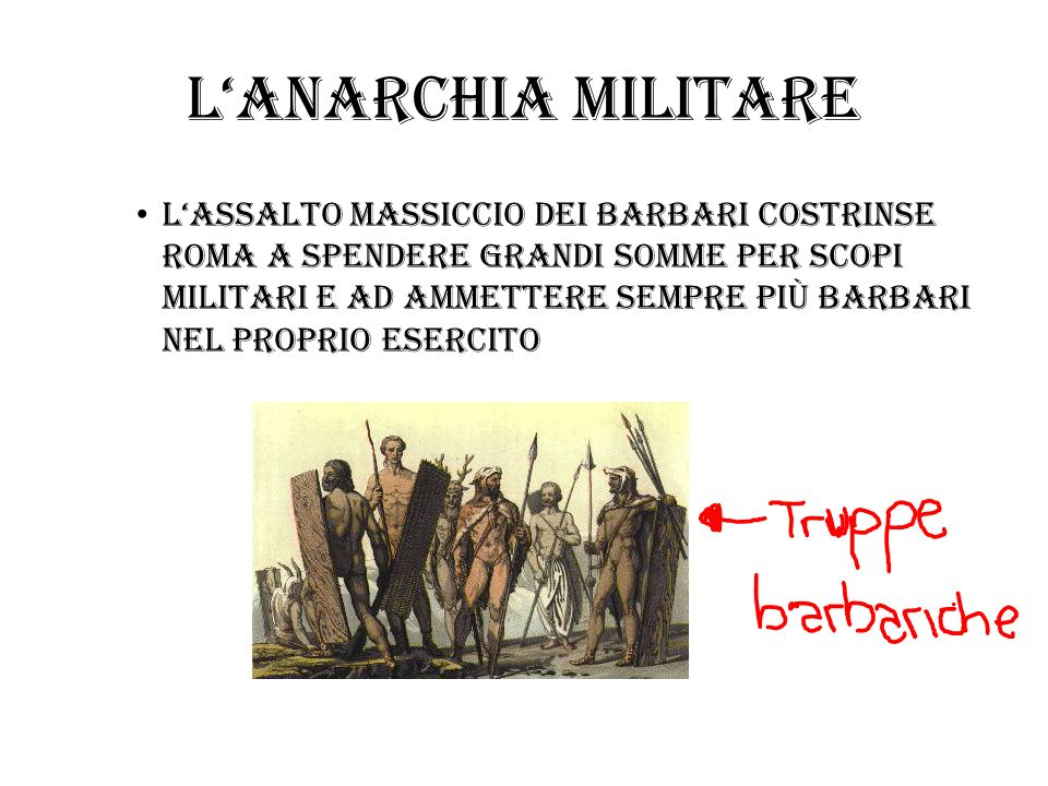 L'anarchia militare