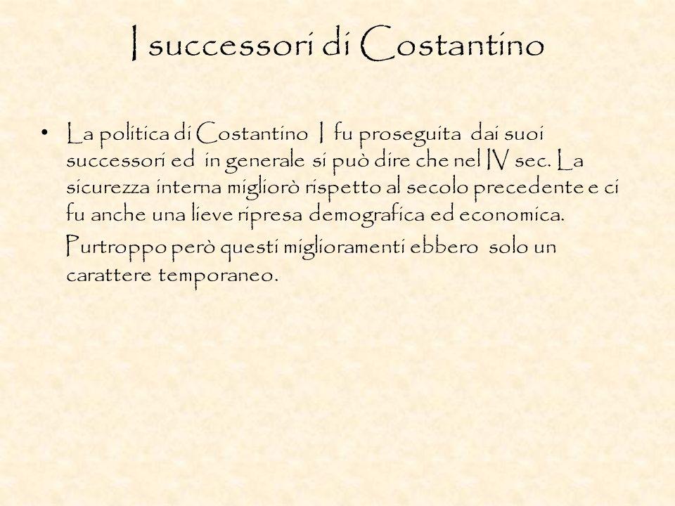 I successori di Costantino