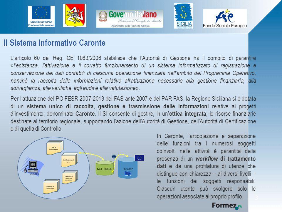 Il Sistema informativo Caronte