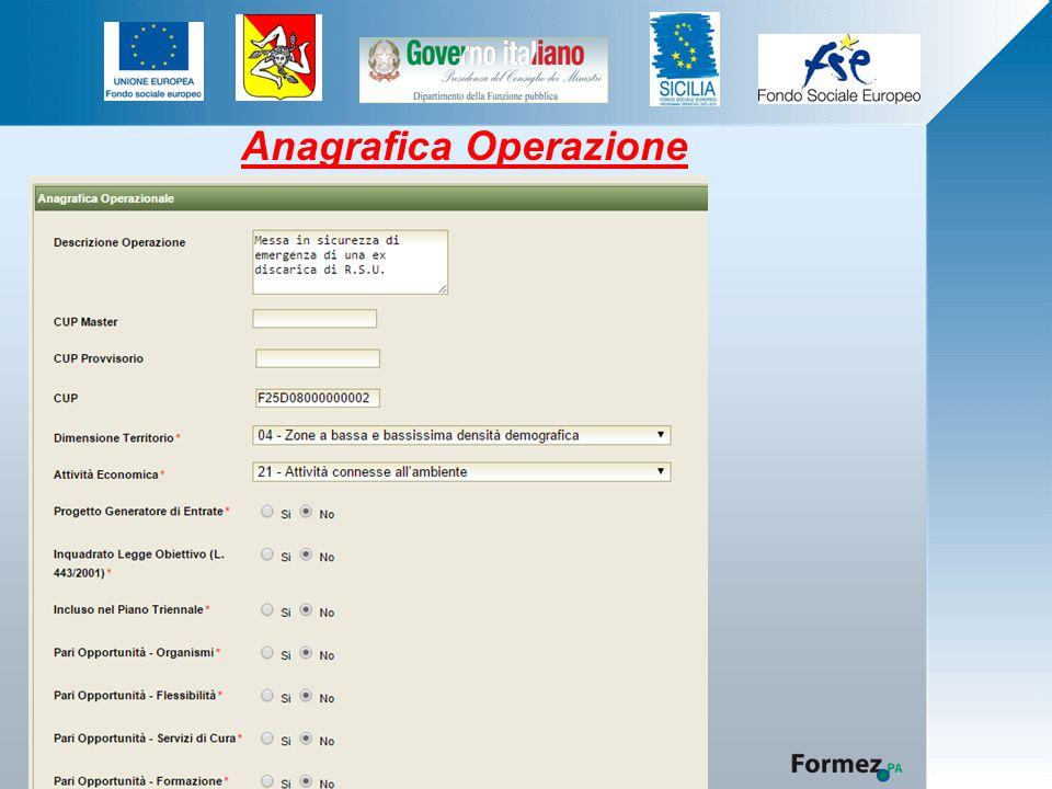 Anagrafica Operazione