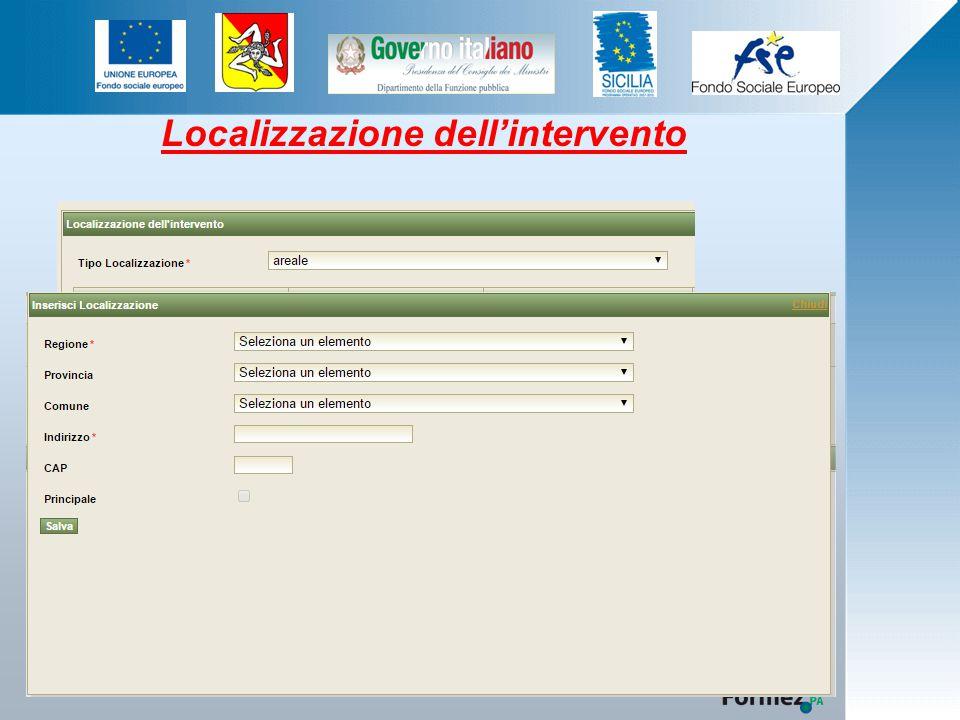 Localizzazione dell'intervento