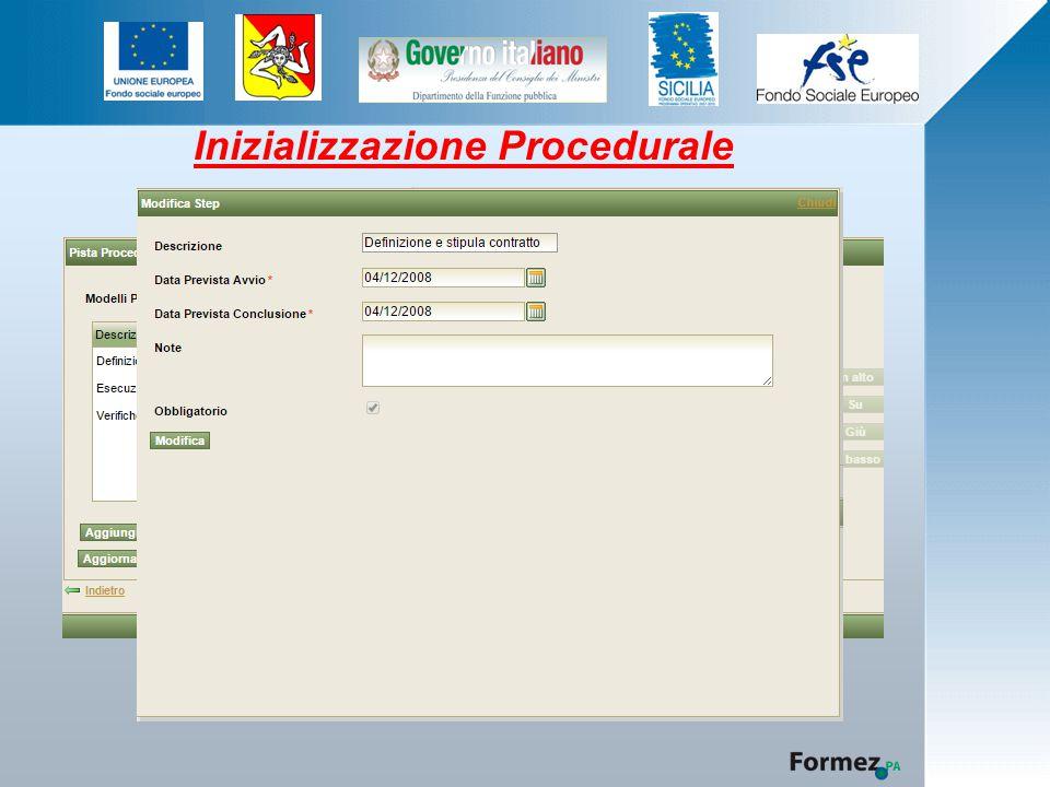 Inizializzazione Procedurale