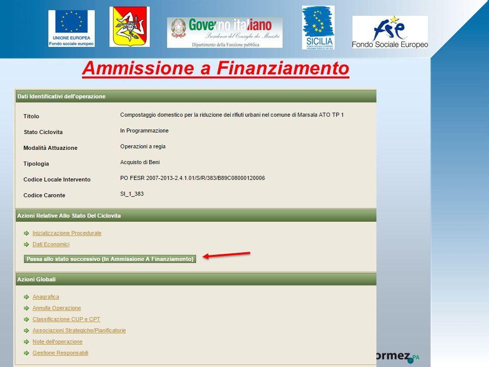 Ammissione a Finanziamento