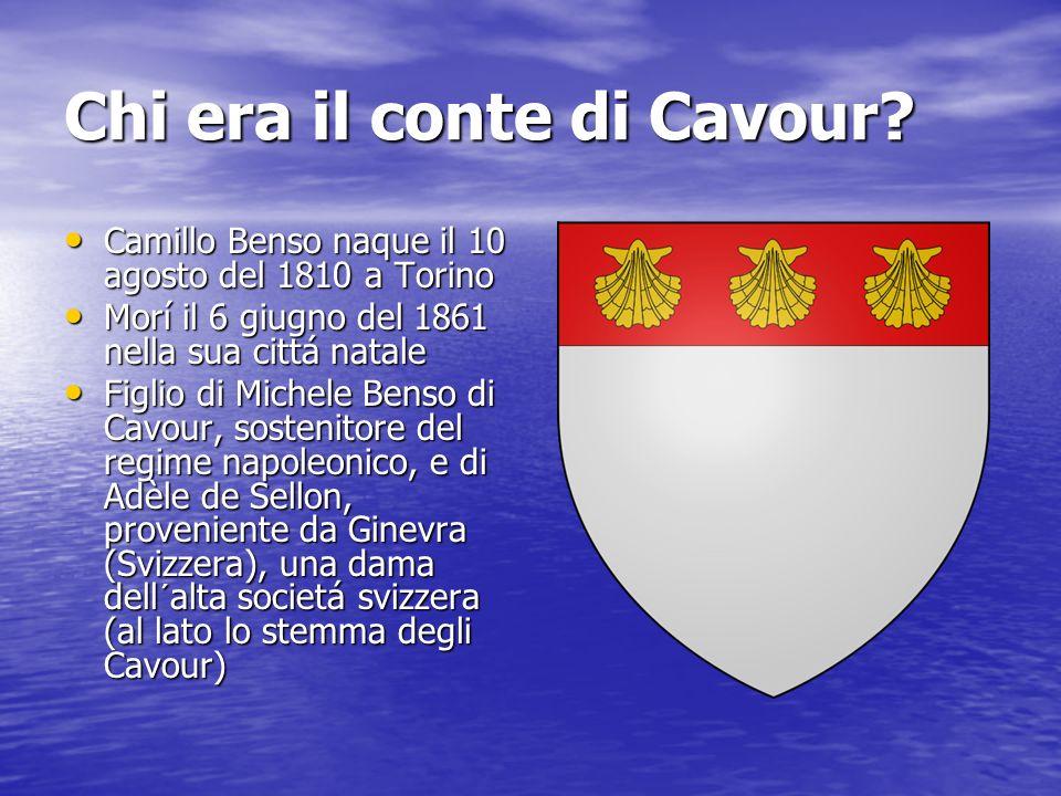 Chi era il conte di Cavour