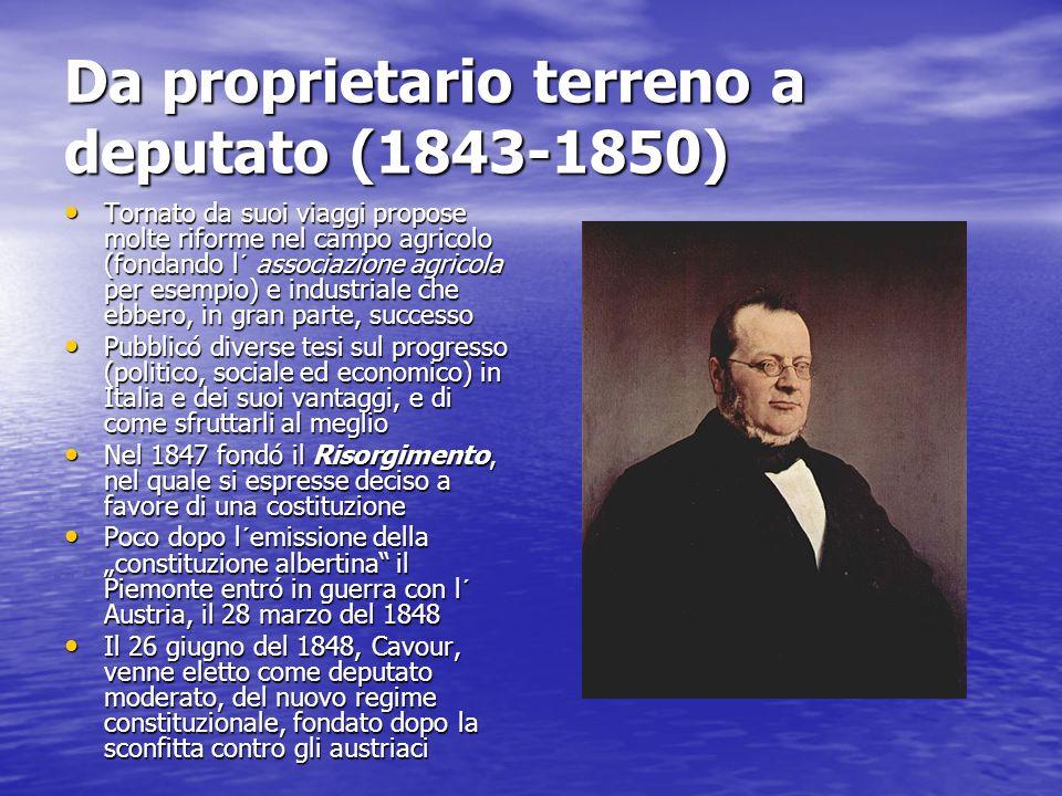 Da proprietario terreno a deputato (1843-1850)