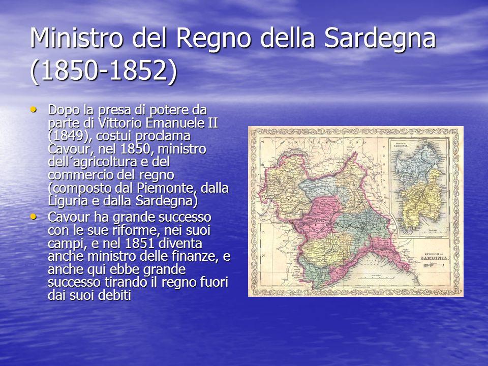 Ministro del Regno della Sardegna (1850-1852)