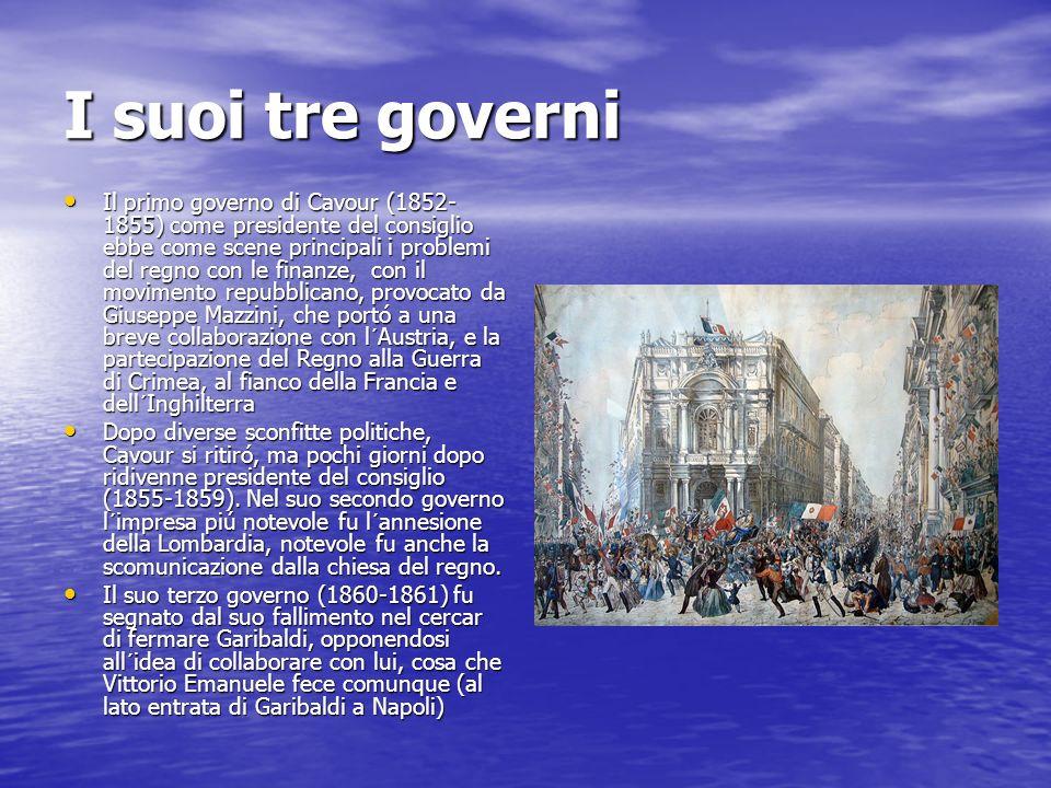 I suoi tre governi