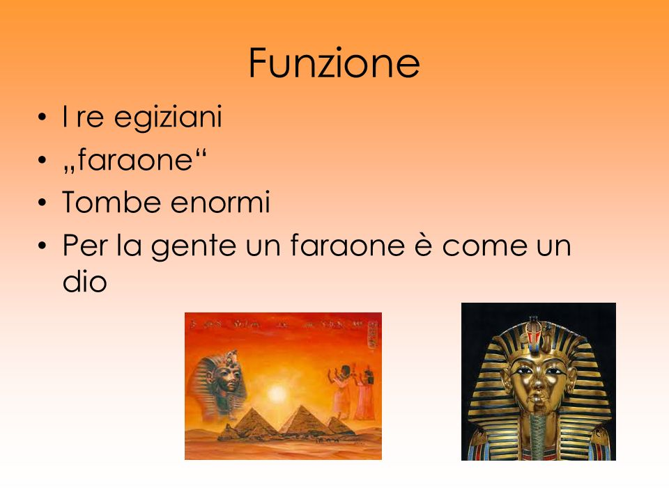"""Funzione I re egiziani """"faraone Tombe enormi"""
