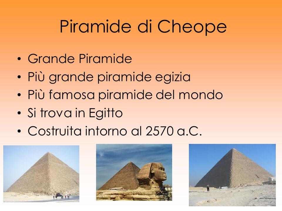 Piramide di Cheope Grande Piramide Più grande piramide egizia