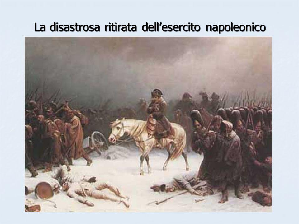 La disastrosa ritirata dell'esercito napoleonico