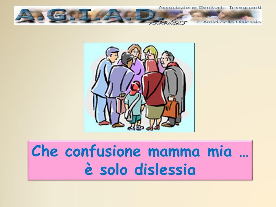 Che confusione mamma mia … è solo dislessia