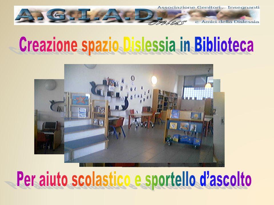 Creazione spazio Dislessia in Biblioteca