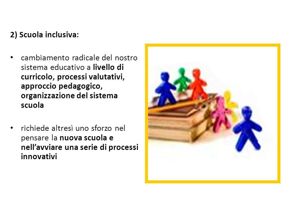 2) Scuola inclusiva: