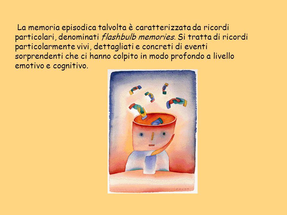 La memoria episodica talvolta è caratterizzata da ricordi particolari, denominati flashbulb memories.