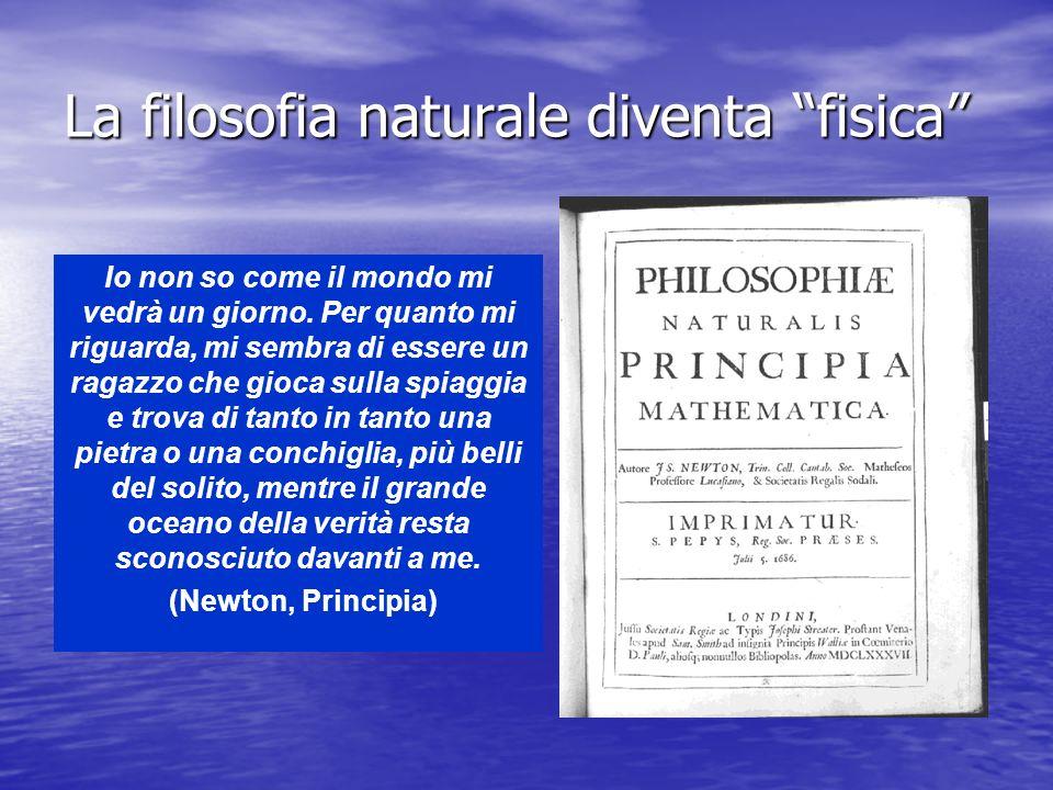 La filosofia naturale diventa fisica