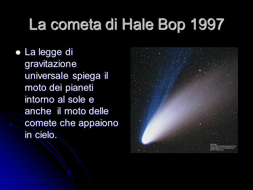 La cometa di Hale Bop 1997