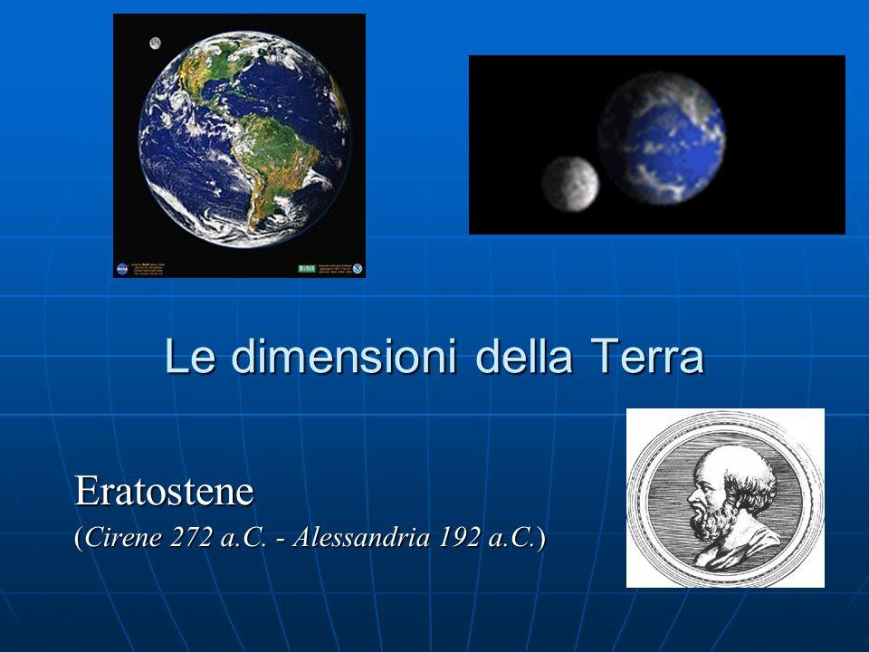 Le dimensioni della Terra