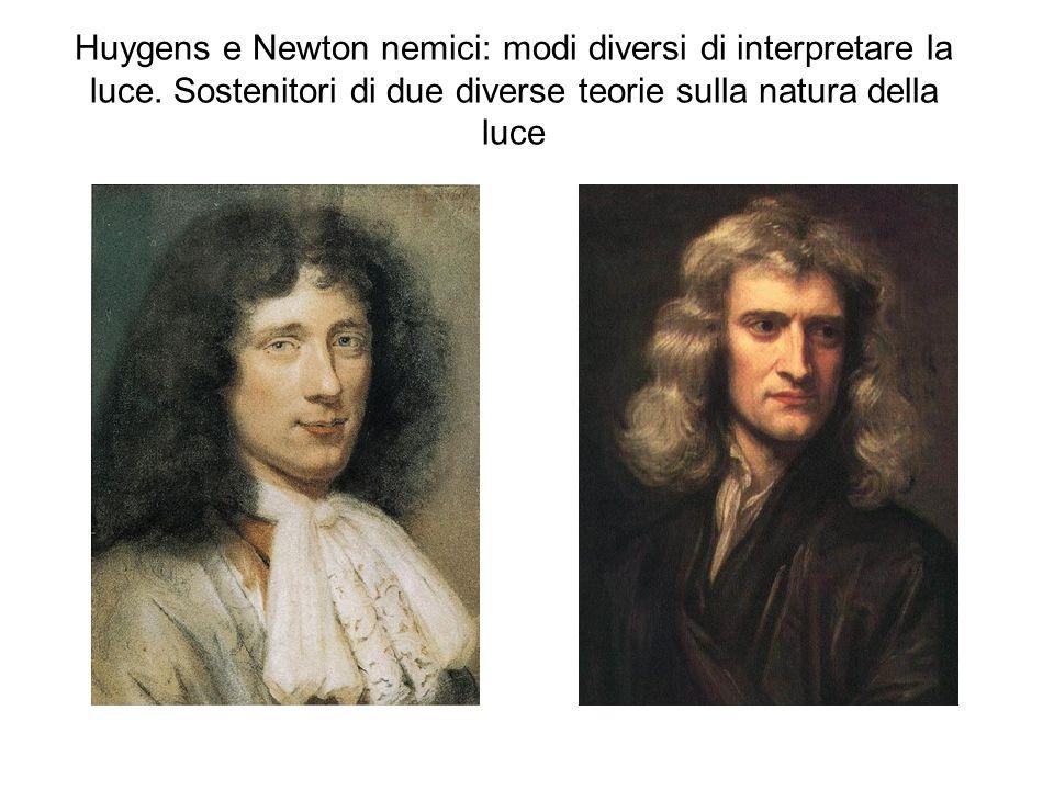 Huygens e Newton nemici: modi diversi di interpretare la luce