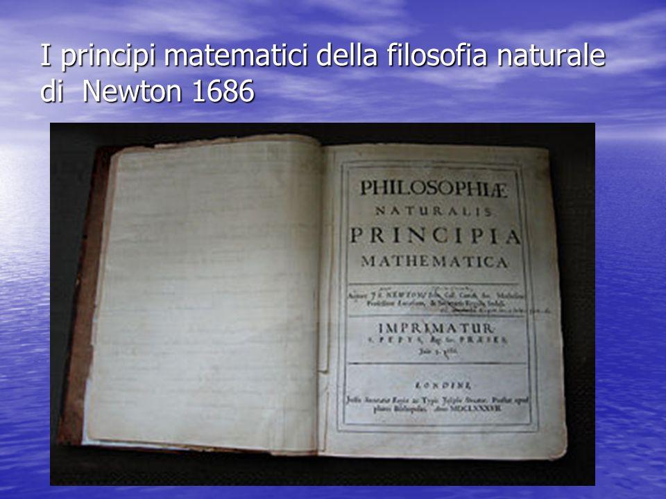 I principi matematici della filosofia naturale di Newton 1686