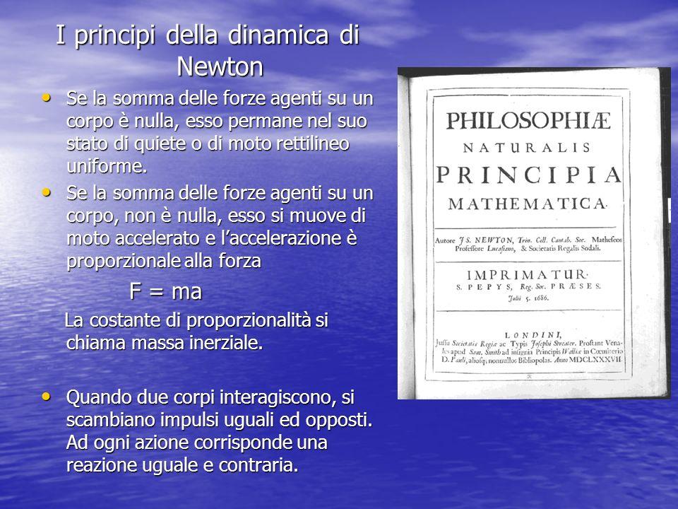 I principi della dinamica di Newton