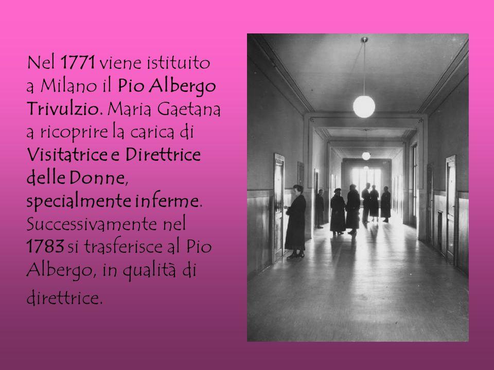 Nel 1771 viene istituito a Milano il Pio Albergo Trivulzio