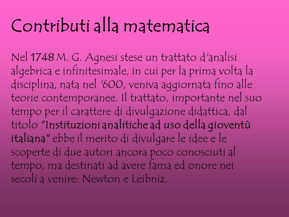 Contributi alla matematica